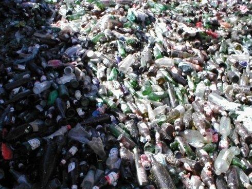 bottiglie di vetro da reciclare