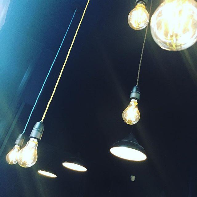 glowing bulbs