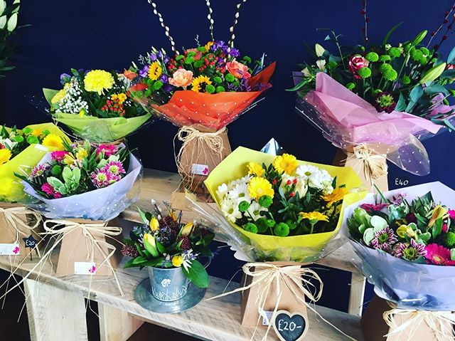 boxes of flowers