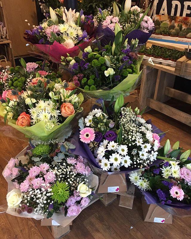 a wide range of flowers