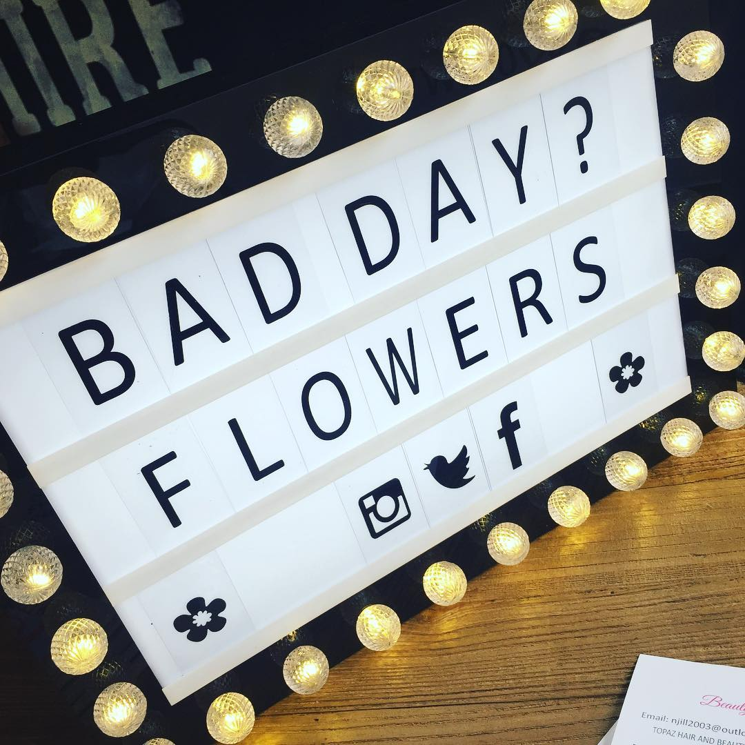 BAD DAY? FLOWERS poster