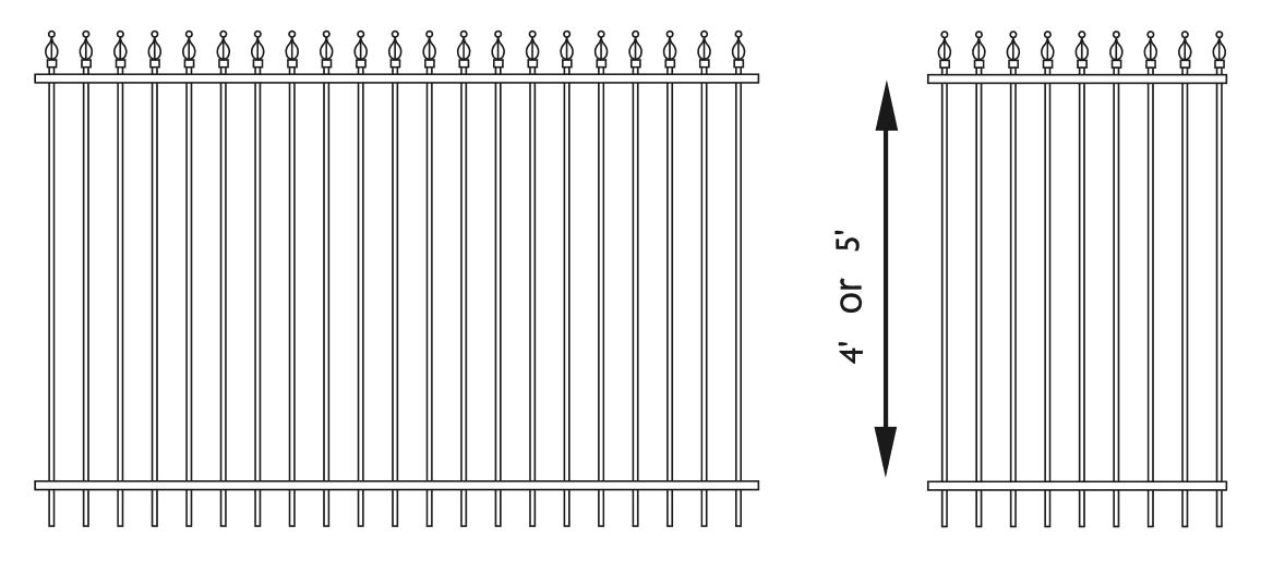 Ornamental Fencing Wrought Iron Fencing