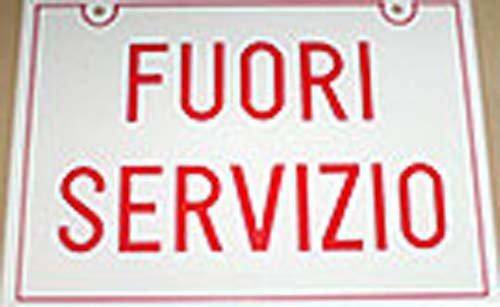 Cartello di Fuori servizio a Senago