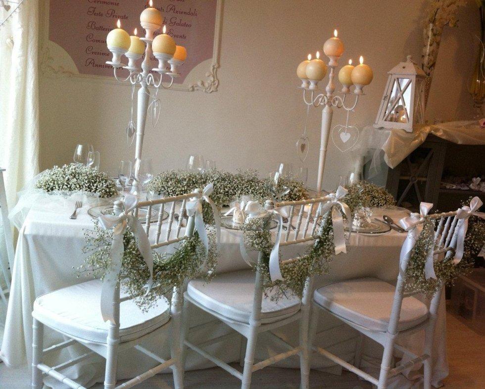 wedding gipsophyla decorations