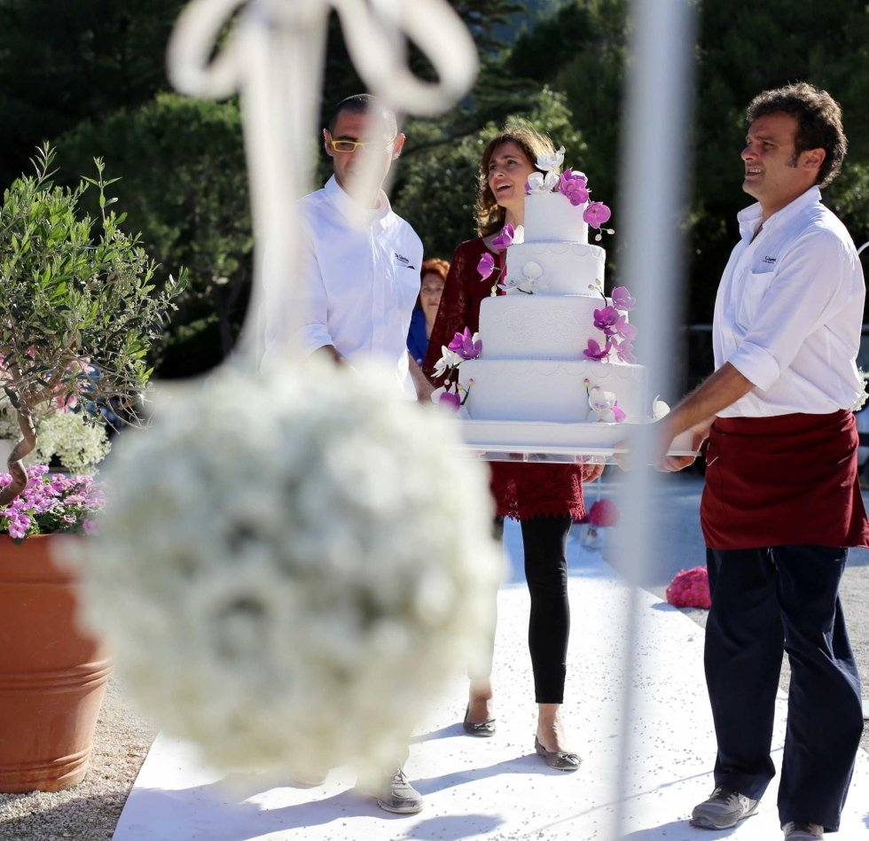 buffet di confetti - wedding cake