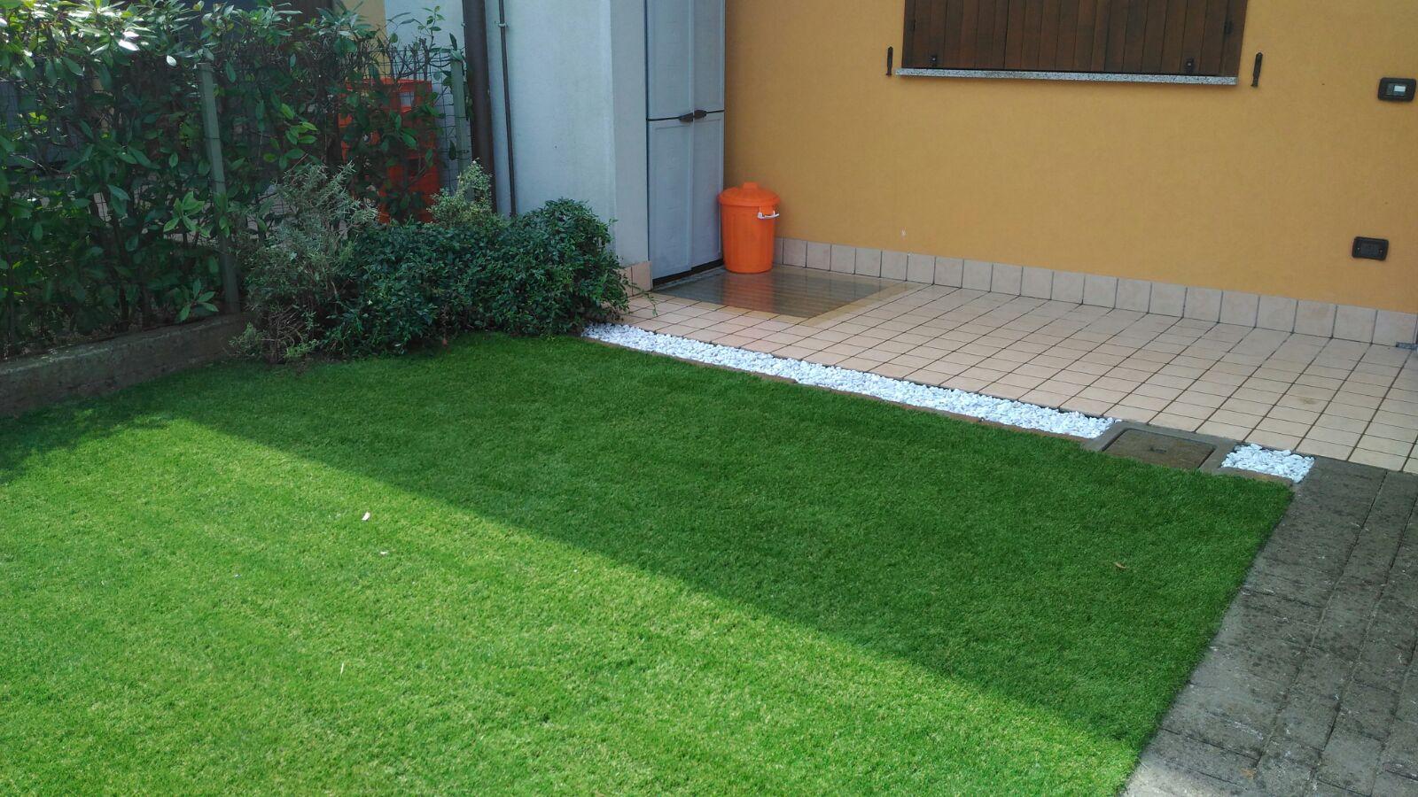 veduta di un manto d'erba