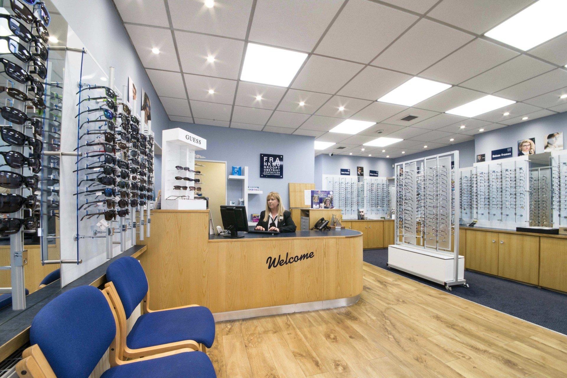 Optometrist reception area