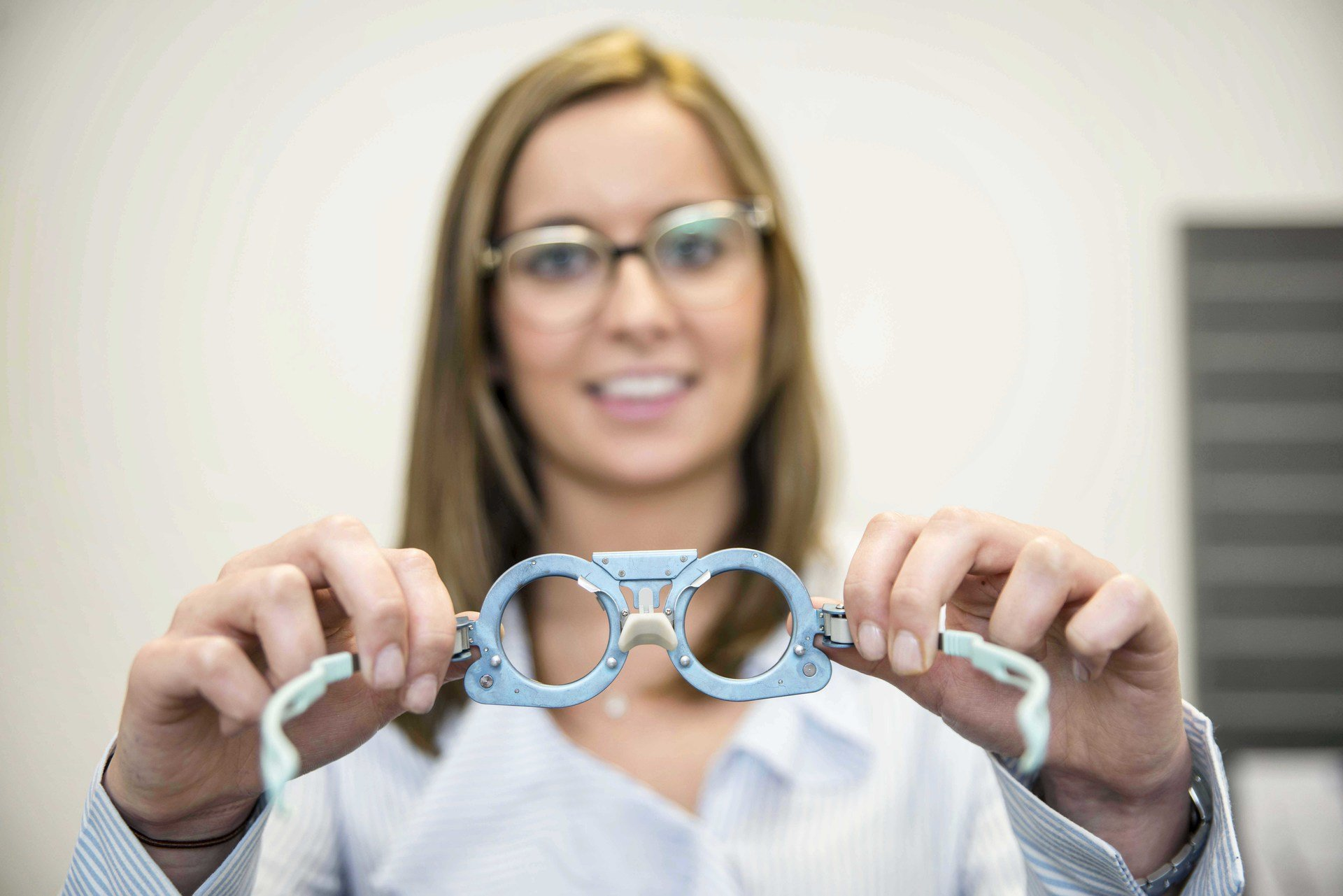 Optometrist with glasses