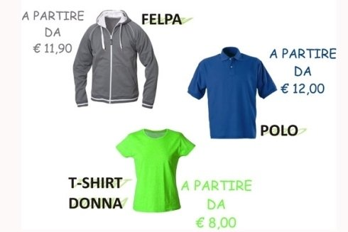Stampa felpe e T-shirt a partire da 8 €