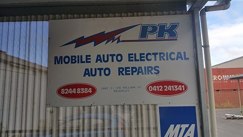 pk mobile electrical service business name board