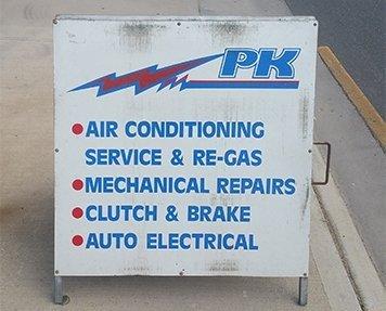 pk mobile electrical service name board