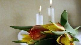 fiori con candele