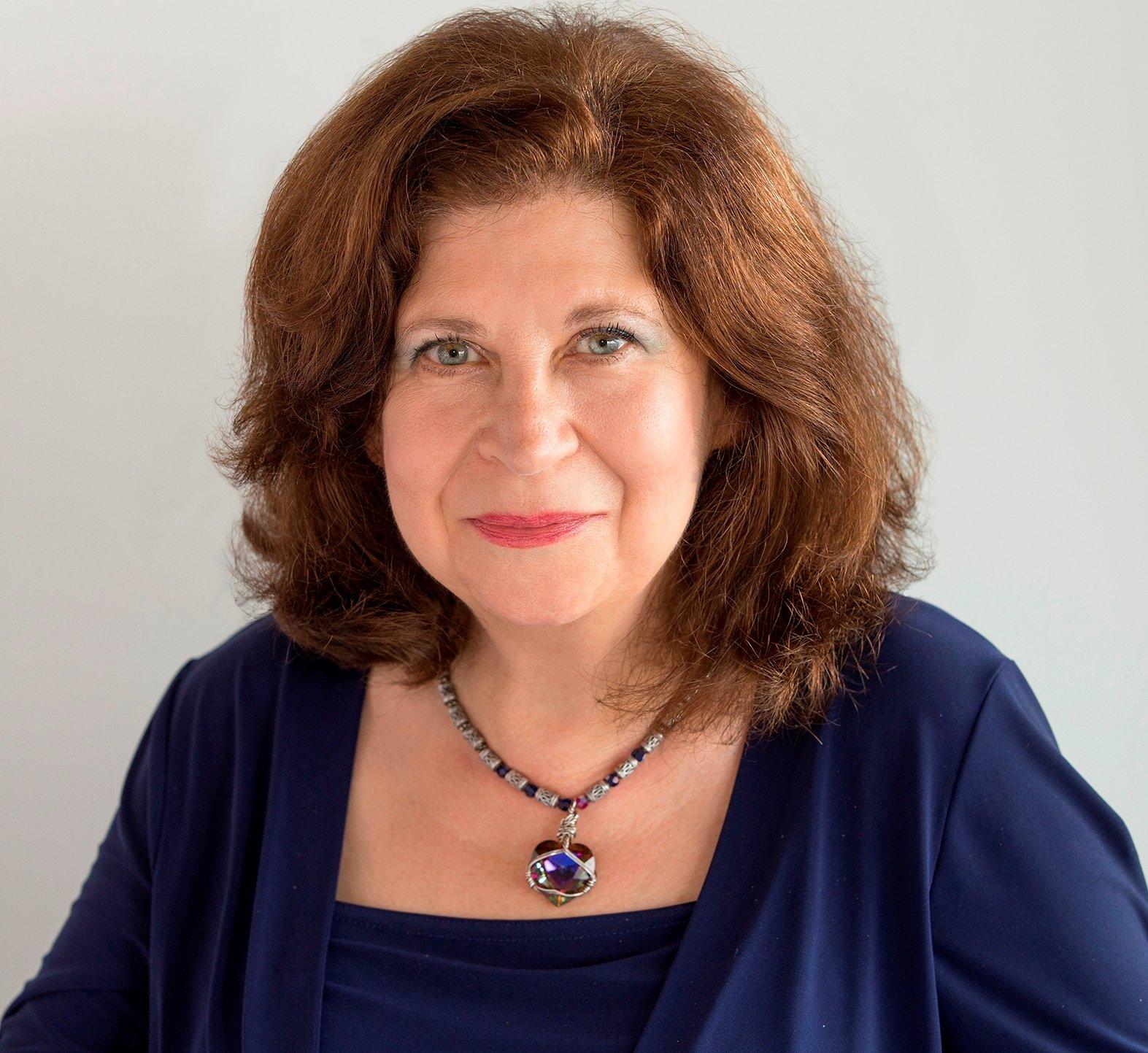 Portrait of Joan Carra in psychic attire