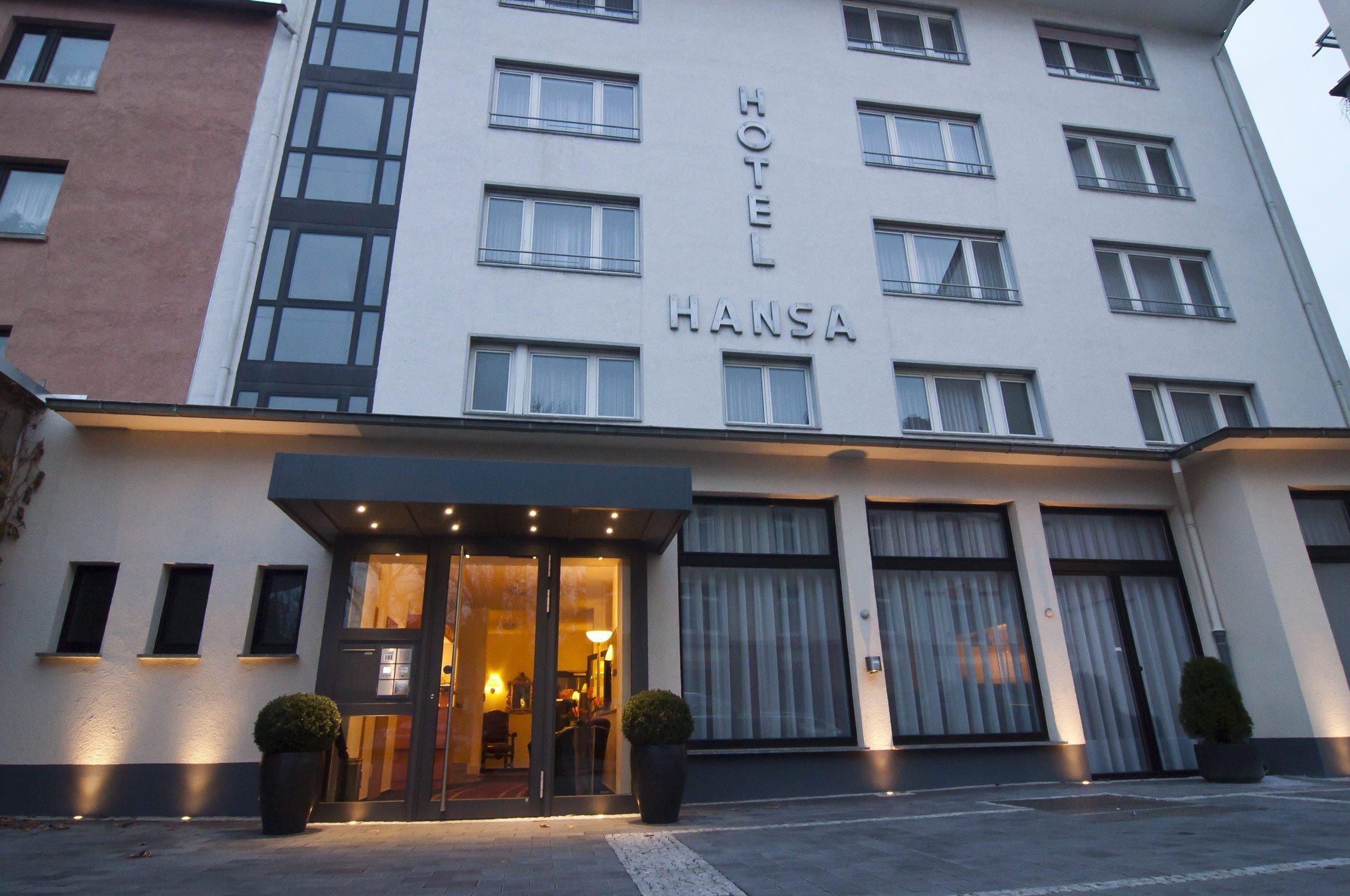 Die Außenansicht vom Hotel Hansa Offenbach