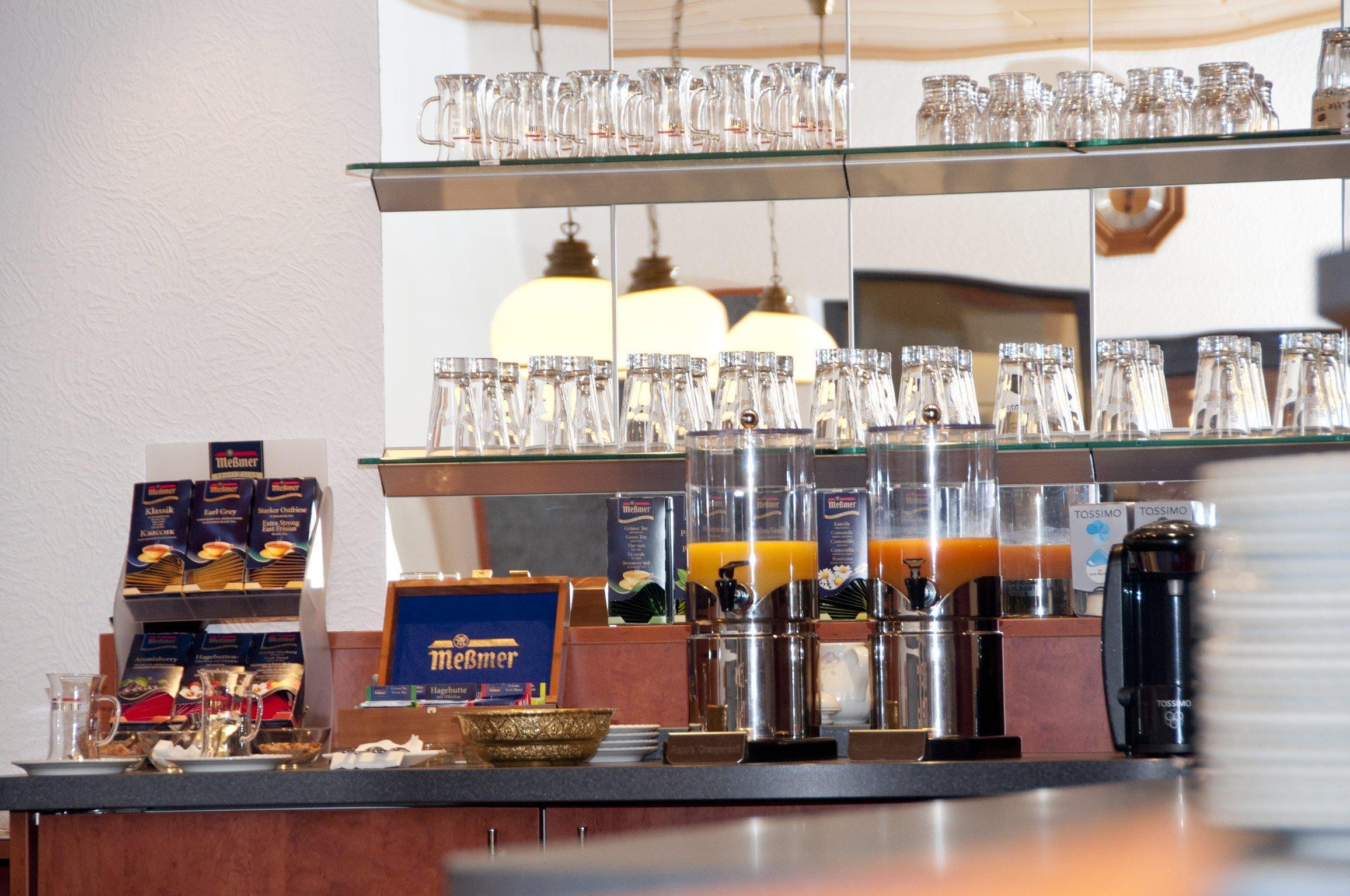Ansicht auf das Frühstücksbuffet im Hotel Hansa Offenbach