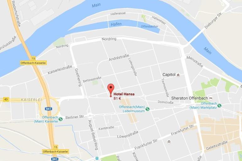 Eine Karte von Offenbach