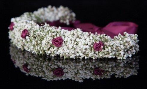 dettaglio corona di fiori