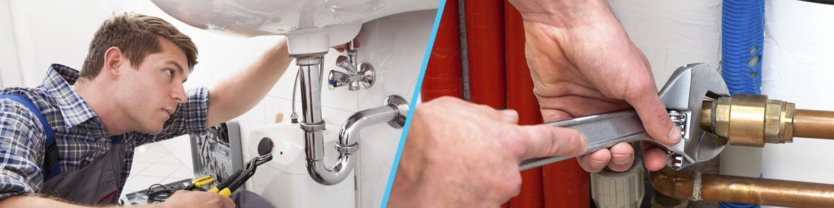 clean line plumbing pty ltd plumber fixing pipe with tools
