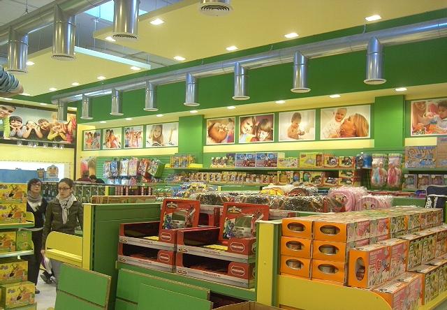 Arredo negozio di giocattoli