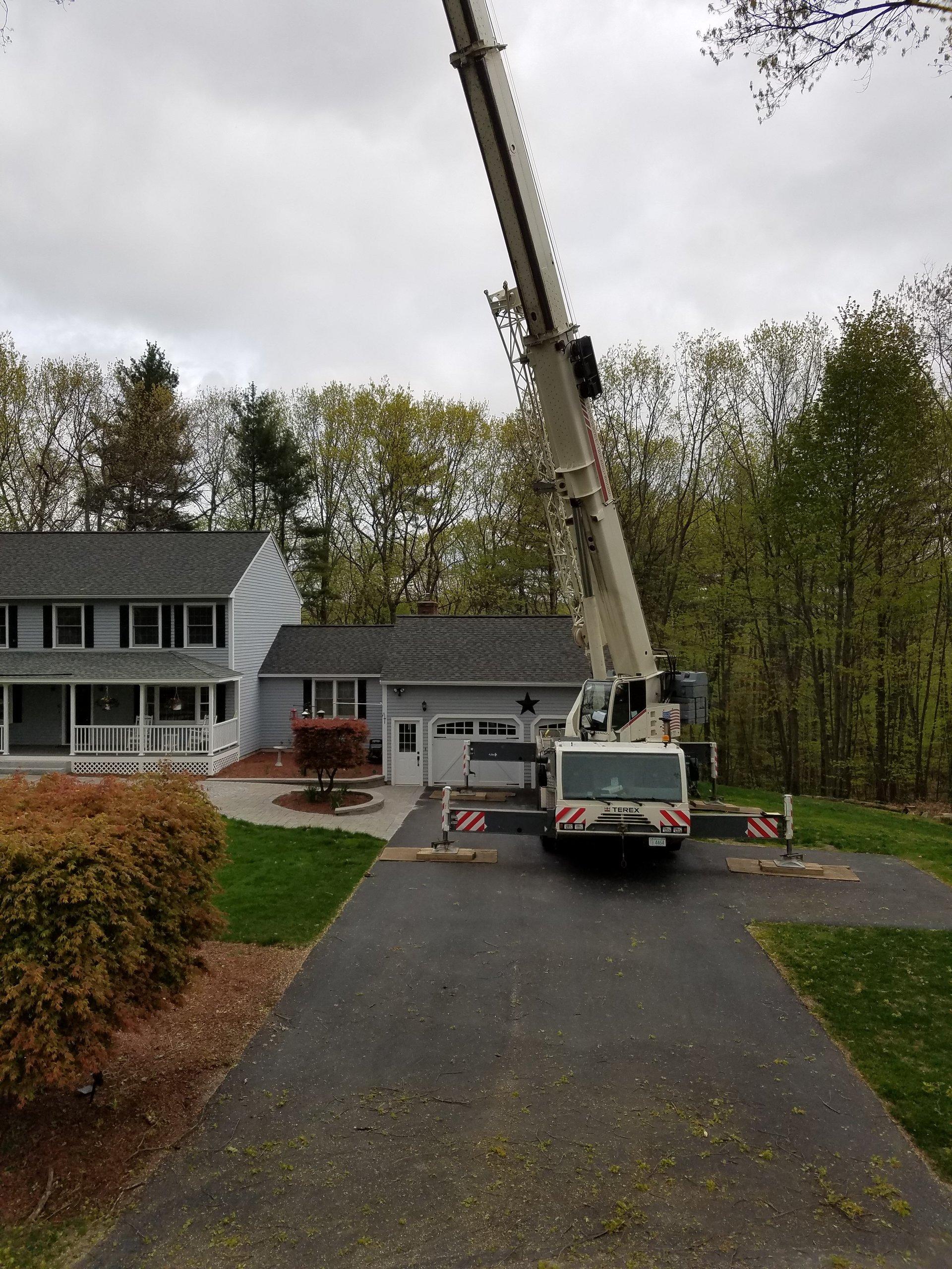 Souhegan Valley Tree Service Crane