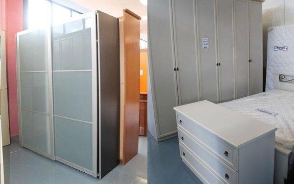 armadio ad anta scorrevole e armadio bianco