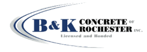 B & K Concrete of Rochester logo