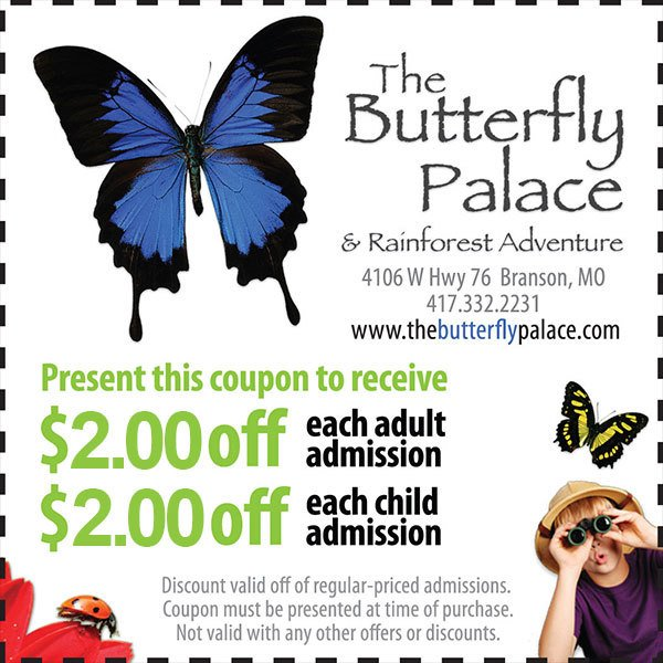 Coupons - The Butterfly Palace