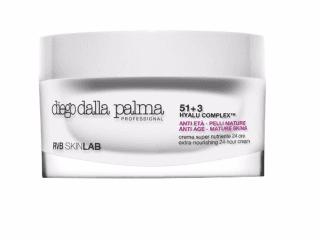 Una confezione della crema con scritto Diego della palma, RVB skin lab, anti eta, pelli mature