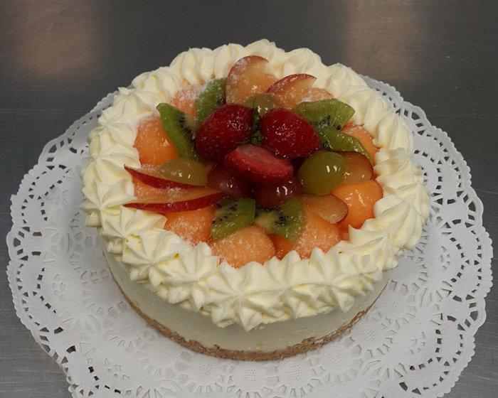 mixed fruit cheesecake
