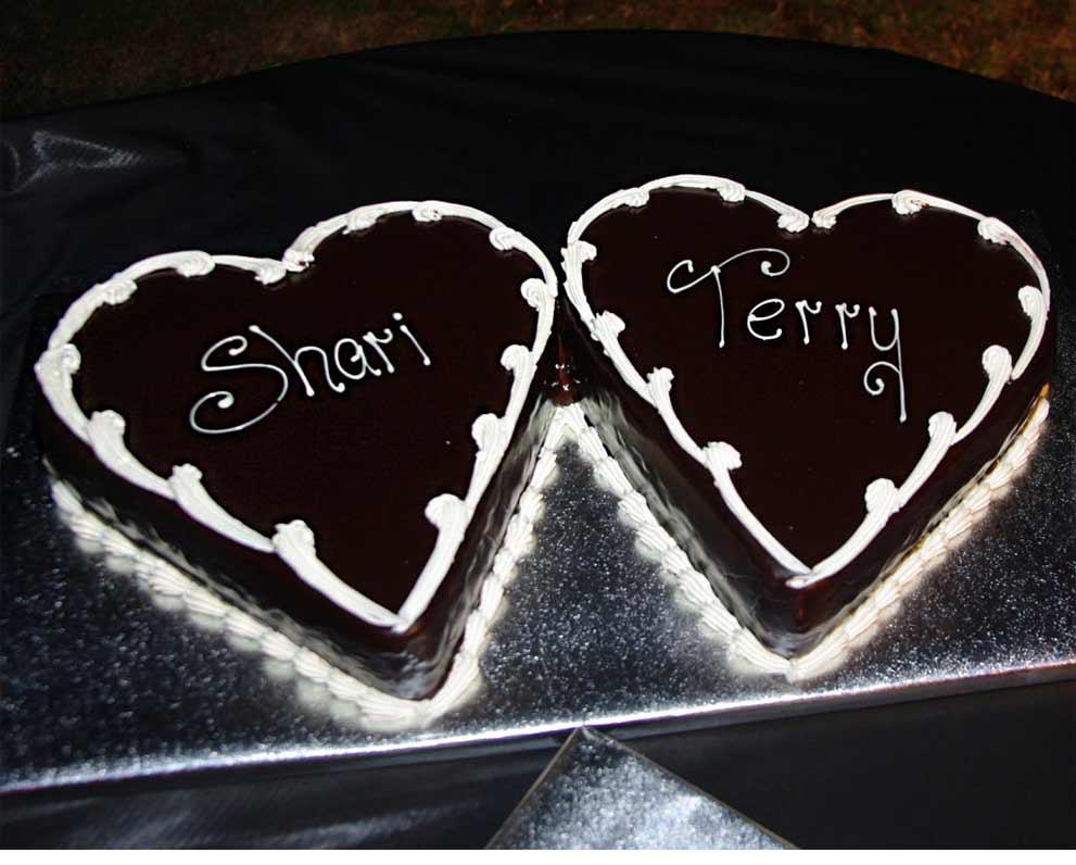 Hearts Shaped Chocolate Ganache Torta