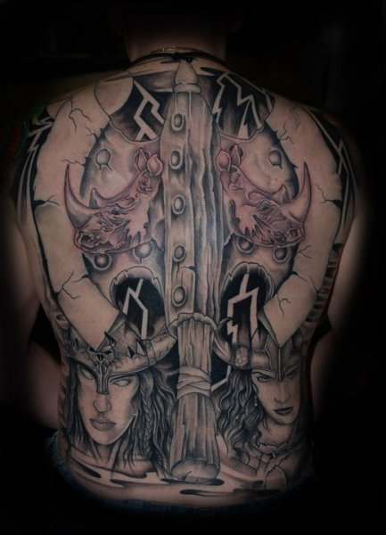 Full body tattoo