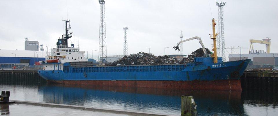 scrap metal in the boat
