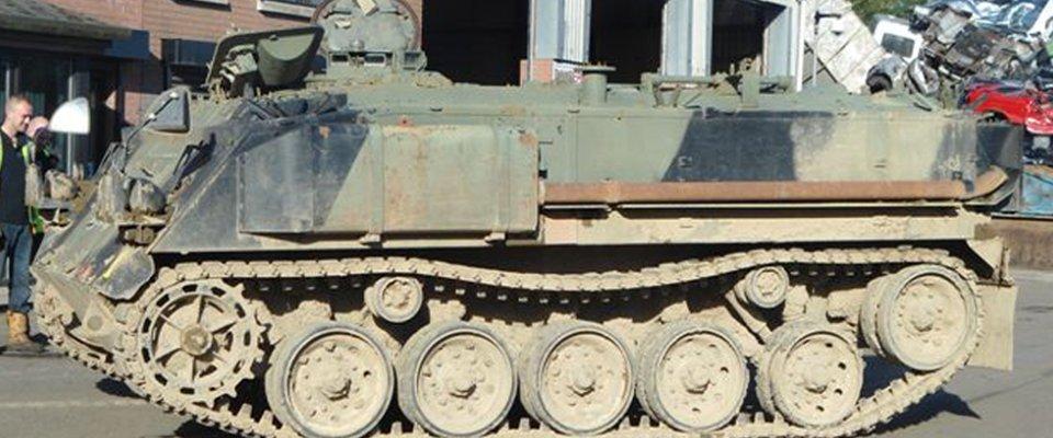 old metal vehicle
