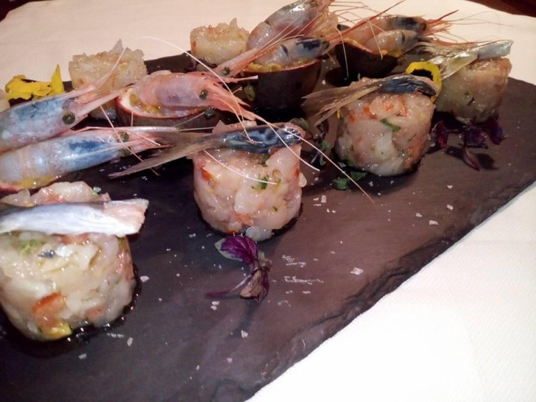 tortini di pesce marinato