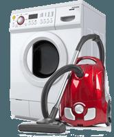 lavatrice e aspirapolvere