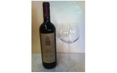 Vino rosso in bottiglia