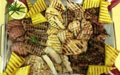 Carne e verdure alla griglia