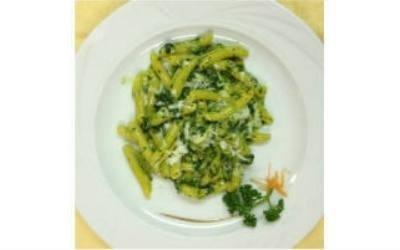 Garganelli con Broccolo Fiolaro e Asiago