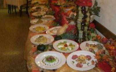 Buffet di piatti misti
