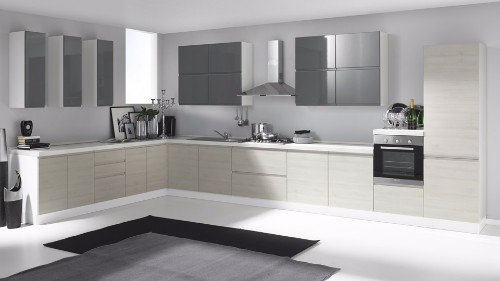 Cucina moderna lucida