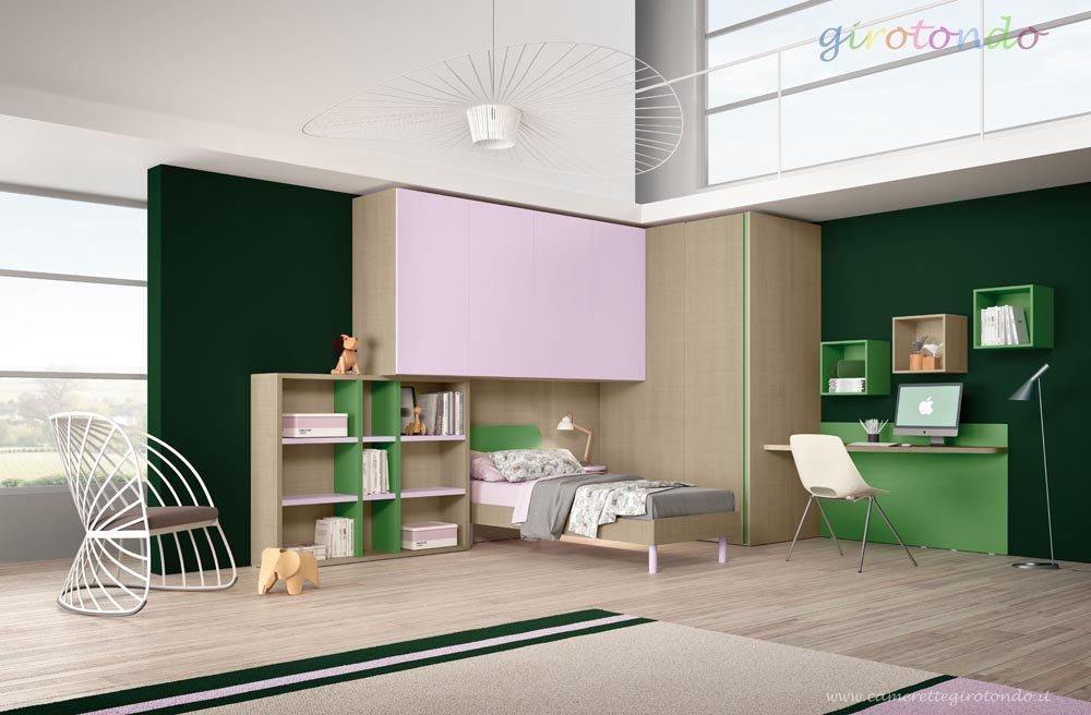 cameretta per bambini con design moderno