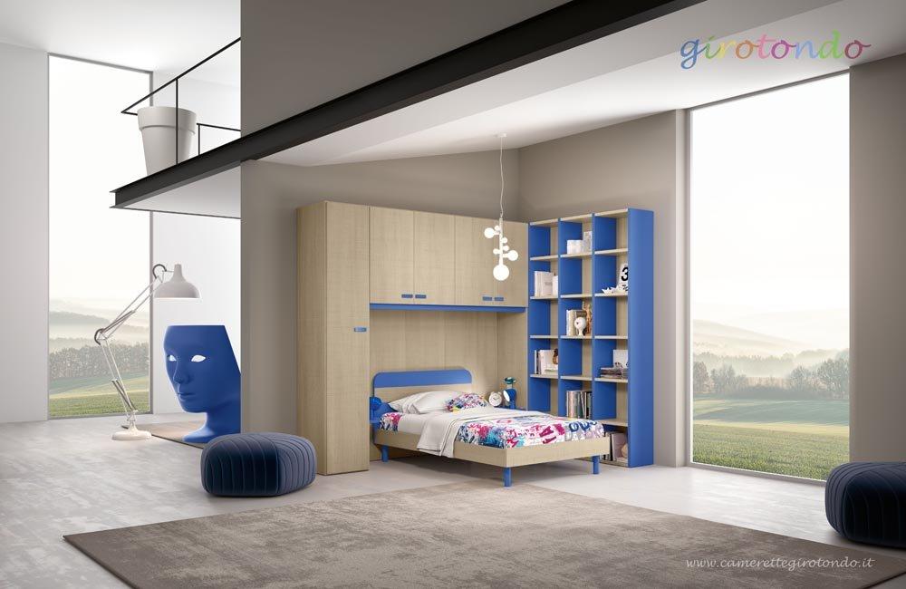 cameretta per bambini con arredamento moderno e parquet