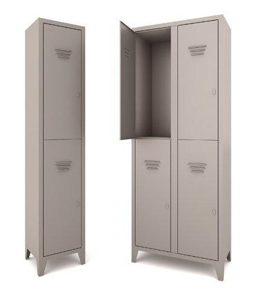 armadio spogliatoio in metallo grigio