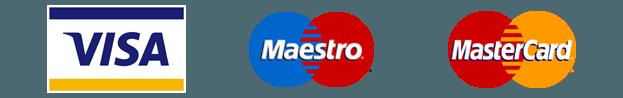 visa master card maestro logos