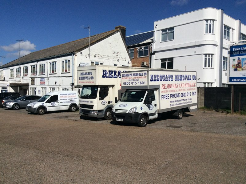Relocate Removals fleet of vans
