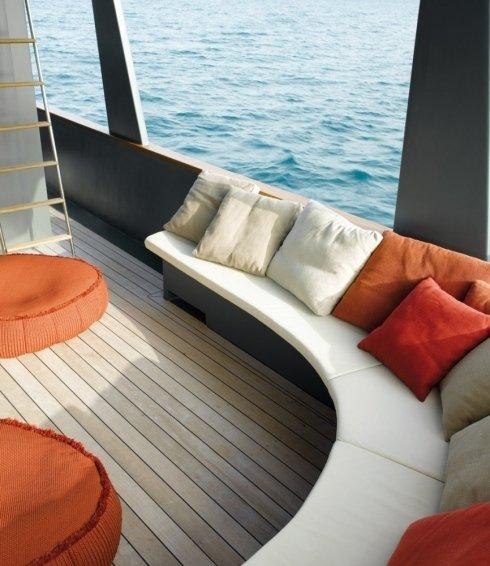 divani e cuscini per imbarcazioni