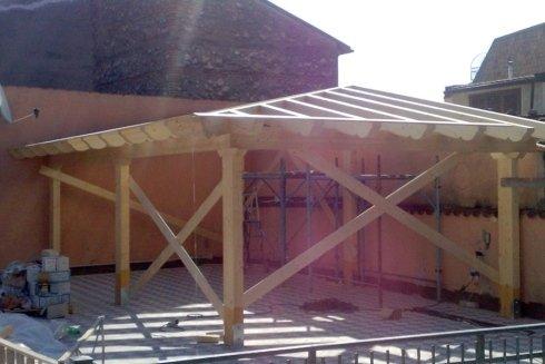 montaggio gazebo struttura in legno