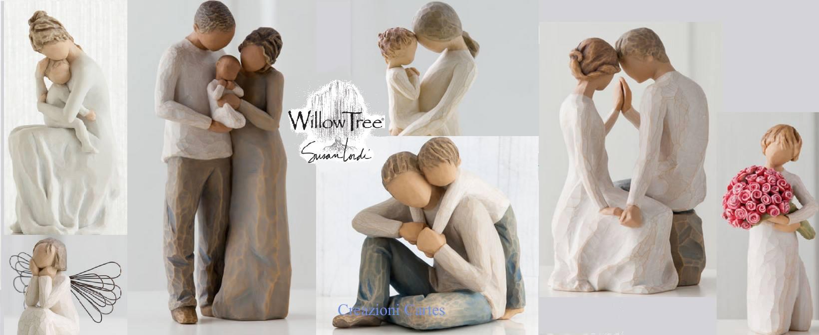 Set di bomboniere di sposi e famiglie del marchio Willow Tree