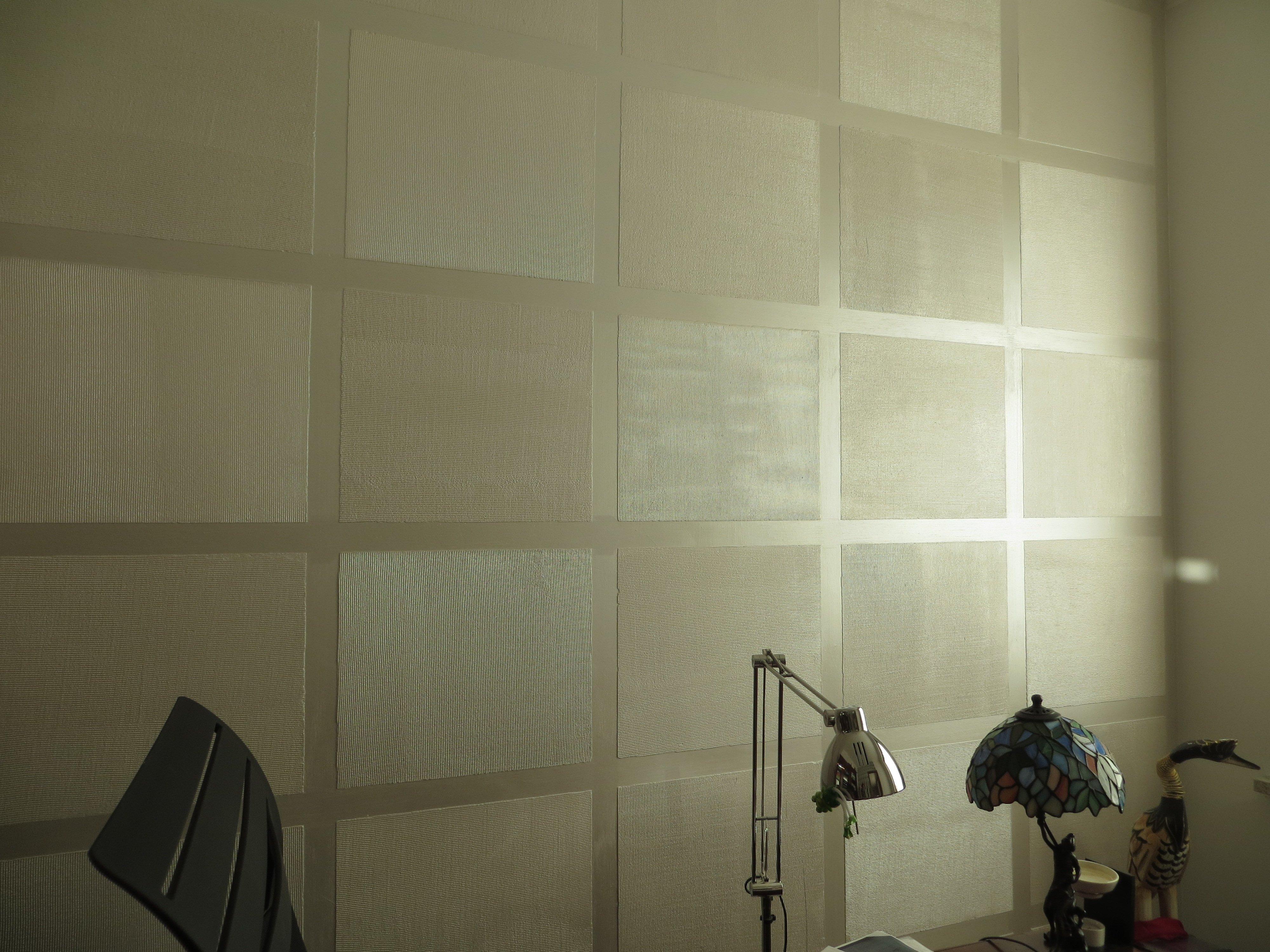 parete decorata con rettangoli