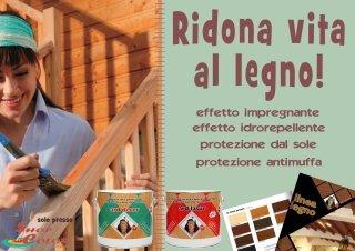 Volantino di offerte per la cura del legno della casa